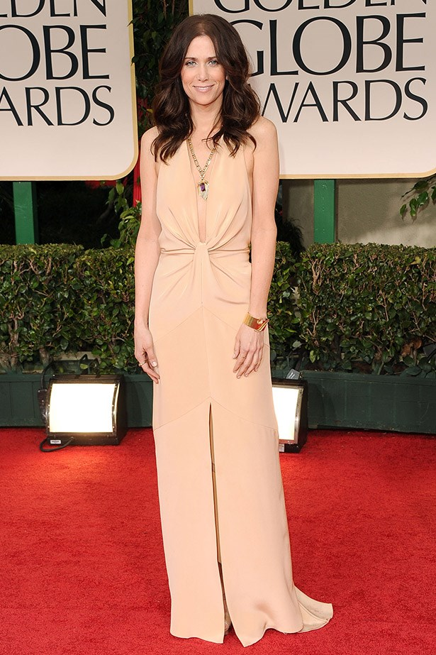 Another nude winner for the star, Kristen Wiig blew us away in this gown by Bill Blass at the 2012 Golden Globe awards.