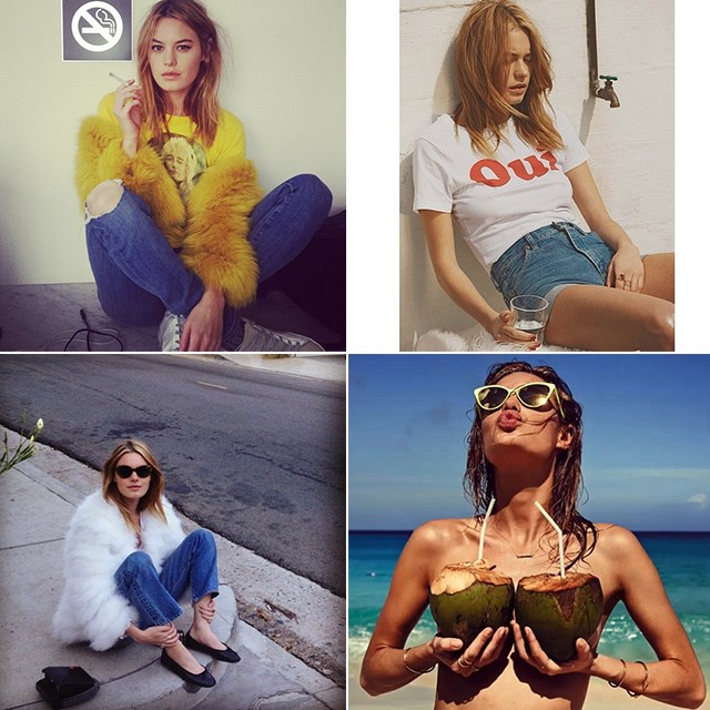 "<p><strong>Camille Rowe @fingermonkey</strong></p> <p>Rowe's Instagram handle had us at hello – who doesn't want to follow an account called Fingermonkey? The French beauty lives and breathes New York, has modelled for Victoria's Secret and Seafolly, and always leaves us thinking, ""Can't we just <em>be</em> you?""</p>"