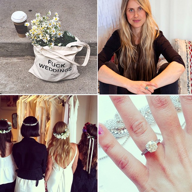 <p><strong>Stone Fox Bride @stone_fox_bride</strong></p> <p>There isn't an Instagrammer alive who shouldn't follow Stone Fox Bride (men too!). Their daily musings and #stonefoxrings posts have us laughing/crying/falling in love simultaneously <em>every</em> damn day. </p>