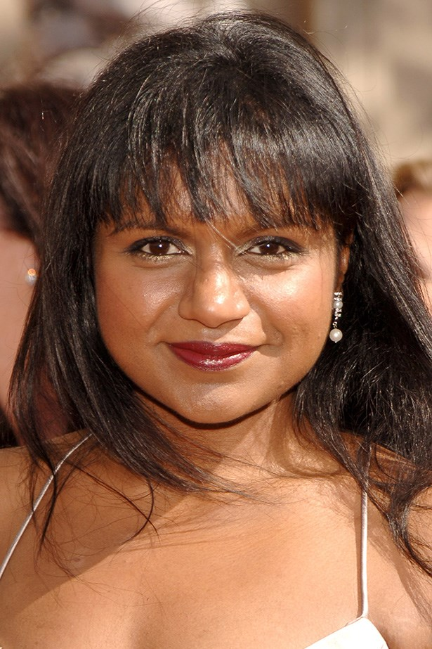 As a young television writer, Kaling rocks a full fringe at the 2006 Creative Arts Emmy Awards.