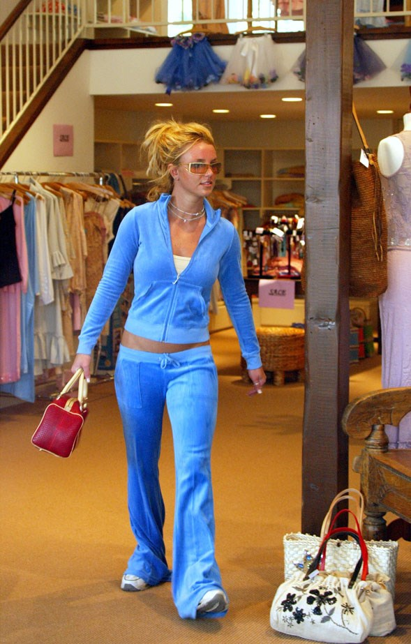 Britney Spears often rocked Juicy for her shopping expeditions. Note the very noughties sunglasses.