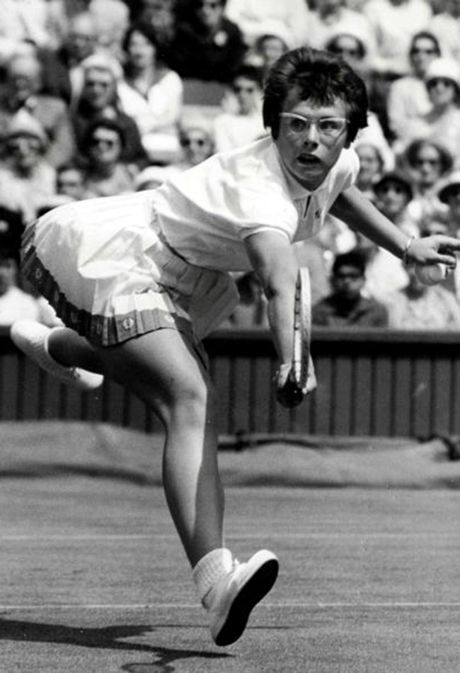 <strong>1961: Billie Jean steals the show <br> </strong>American tennis player Billie Jean King wowed everyone as a 17-year-old with her first Wimbledon doubles title. She went on to win 20 Wimbledon championships, including six singles titles.