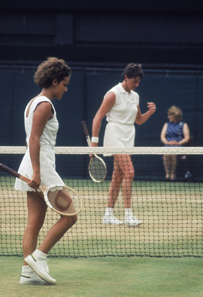 <strong>1971: Two Aussies take centre court </strong><br> Evonne Goolagong and Margaret Court made the women's singles final in 1971. It was the first and only Wimbledon women's final to date that starred two Australians.