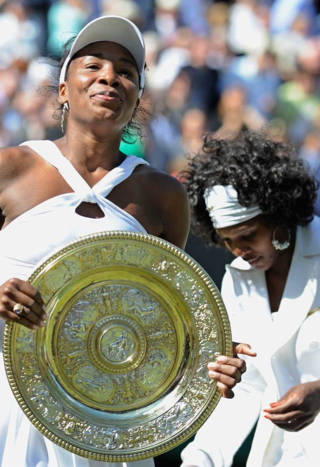 <strong>2008: Role reversal </strong><br> Venus Williams defeated her sister Serena in the 2008 women's singles final. Venus and Serena hold five Wimbledon singles titles each.