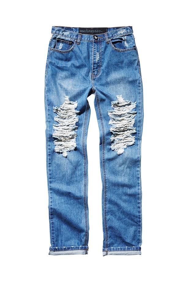 """Jeans, $140, One Teaspoon, <a href=""""http://www.oneteaspoon.com.au"""">oneteaspoon.com.au</a>"""