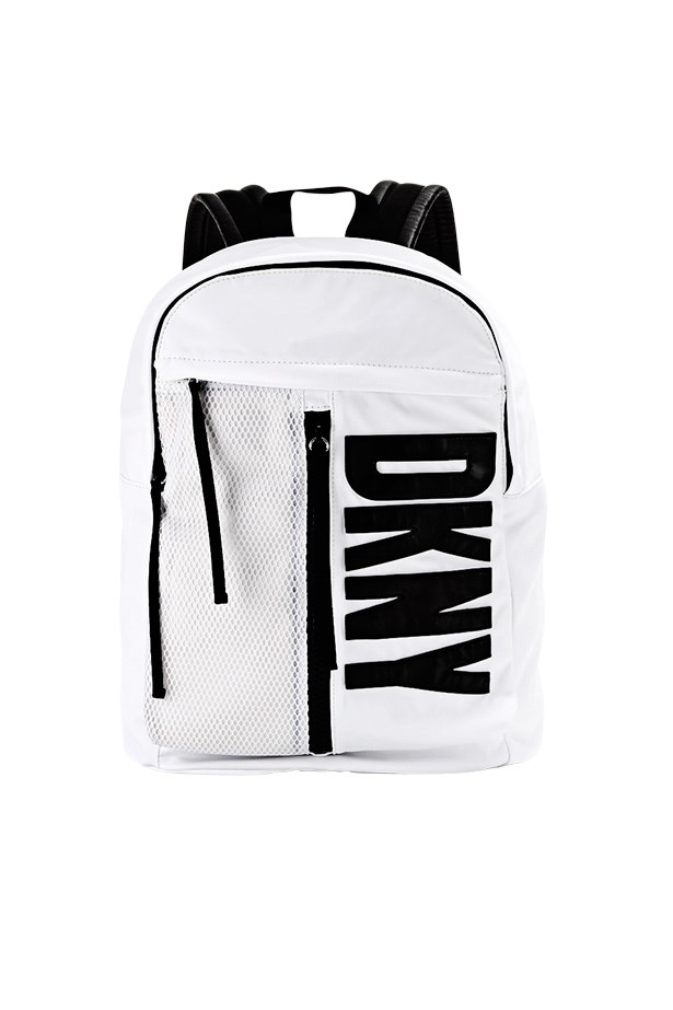 "Backpack, $289, DKNY X Opening Ceremony, <a href=""http://www.mytheresa.com"">mytheresa.com</a>"
