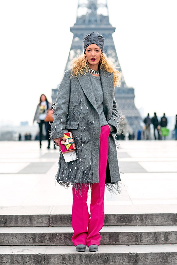 What could be a better pick-me-up on a grey day than shrugging on a marabou-feathered coat and topping it off with a turban?
