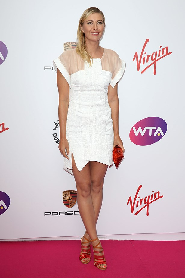 Sharapova wearing Antonio Berardi at a Pre-Wimbledon Party this year.
