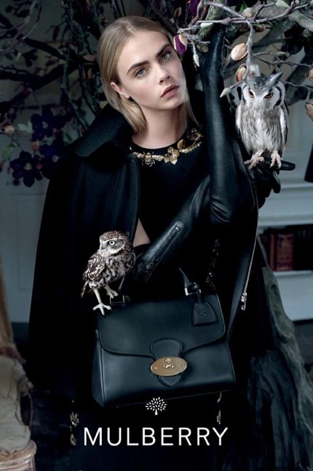 The campaign, shot by Tim Walker, was the first campaign the British model did for the brand.