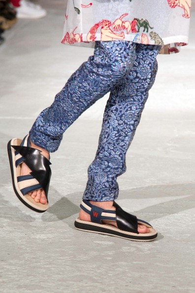 <strong>Designer: Walter Van Beirendonck</strong><br> <strong>Season</strong>: SS15<br> <strong>Why we love it</strong>: Fun new sandals that the modern man can wear around the house or casually down town