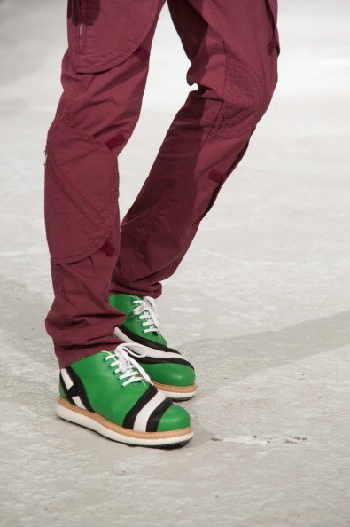 <strong></strong>Designer: Walter Van Beirendonck<br> <strong></strong>Season: SS15<br> <strong></strong>Why we love it: for the more daring and fun men out there these kicks are a modern take on a bowling alley shoe