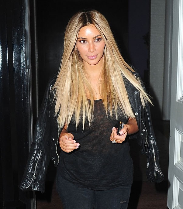 Kim Kardashian in the wig which sent fans rushing to their colourist.