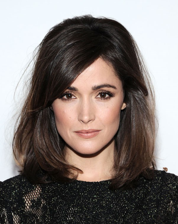 ELLE covergirl, Rose Byrne kills it as a sexy, serious brunette.