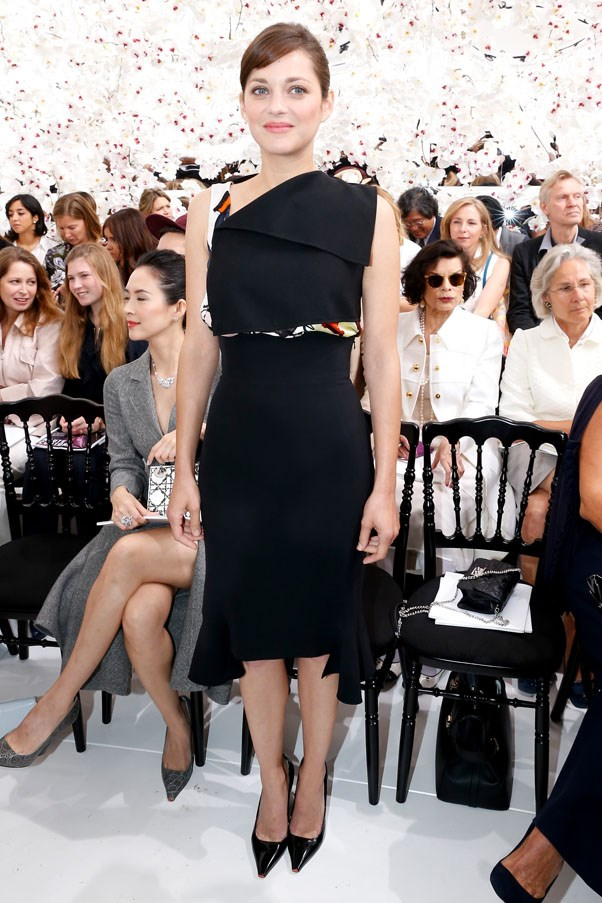 One of our favourite ambassadors, Marion Cotillard showed off the power of simplicity when she attended the Dior Couture show in this elegant Dior Resort 2014 top and high-waisted skirt.