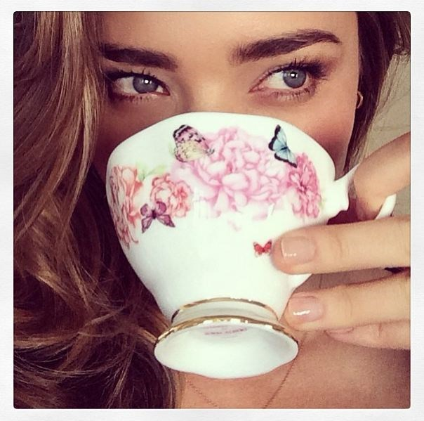 <strong>Drink more tea in fancy cups</strong><br> Miranda Kerr is clearly onto a good thing with her new china range for Royal Albert. Another object with a strong positive impact is the humble drinking vessel. That's right, teacups are double tap gold. Interestingly, there is nothing in the report about mason jars though... <br><br> <em>Image: @mirandakerr</em>