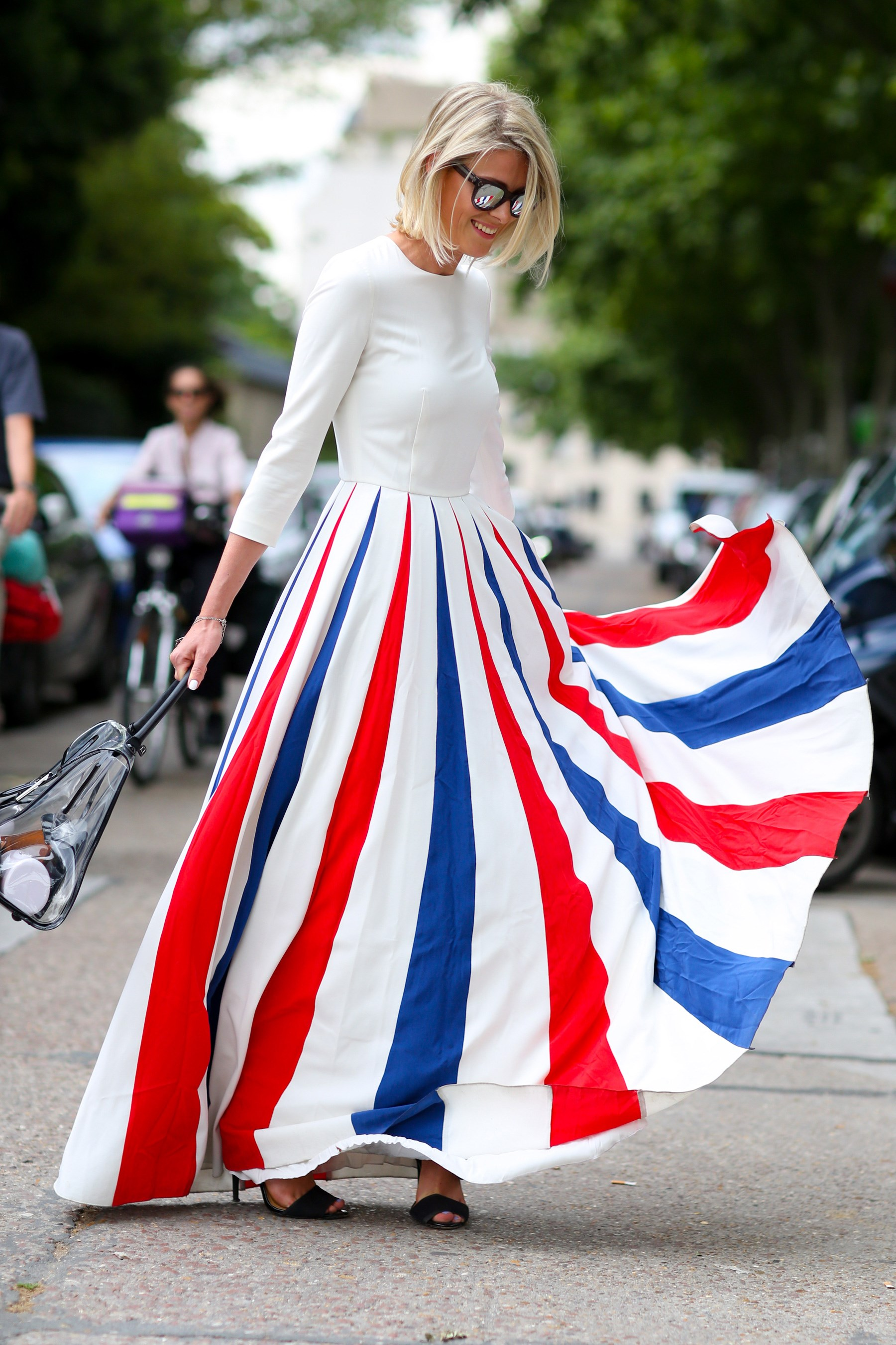 The ultimate 4th of July carnival dress swirled it's way around the couture shows.