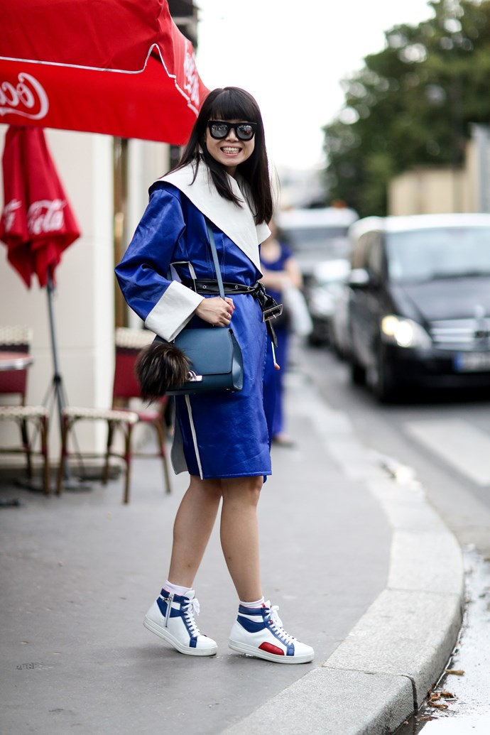 Sporty and contrasting primary colours: two of the key trends of the moment.