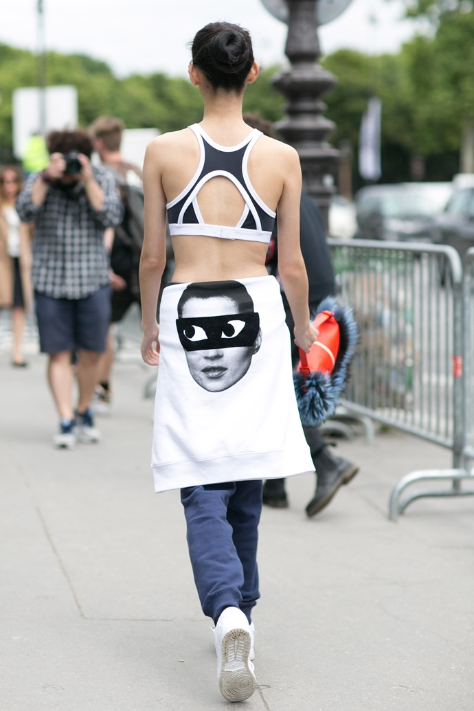 This model took the sports trend to a new level. We love the Fendi bag though.