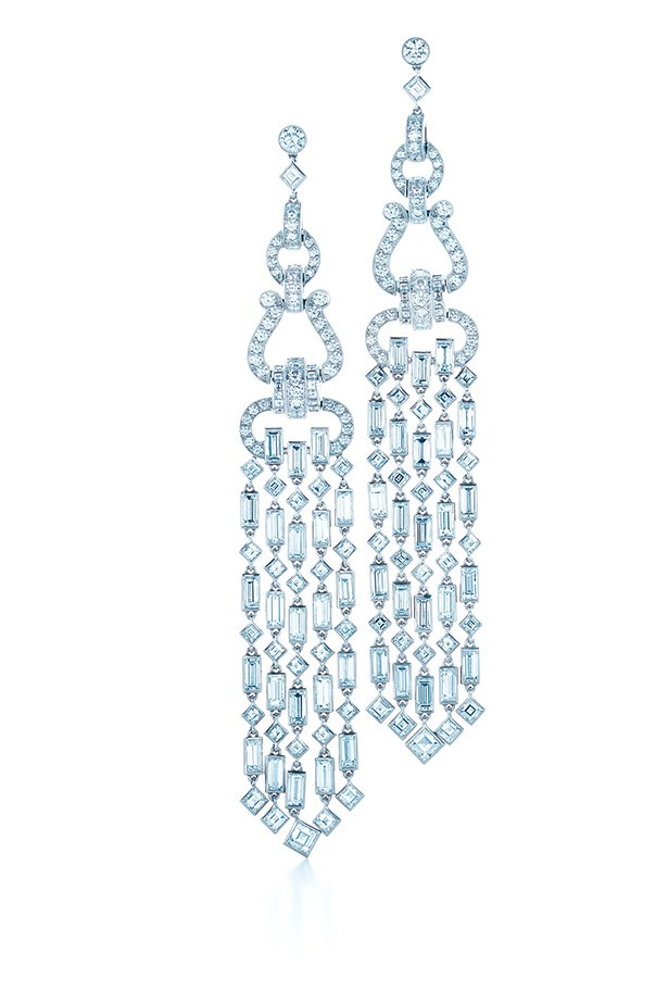 Tiffany & Co. 5.07ct Diamond Tassel Earrings in platinum, $101,500.