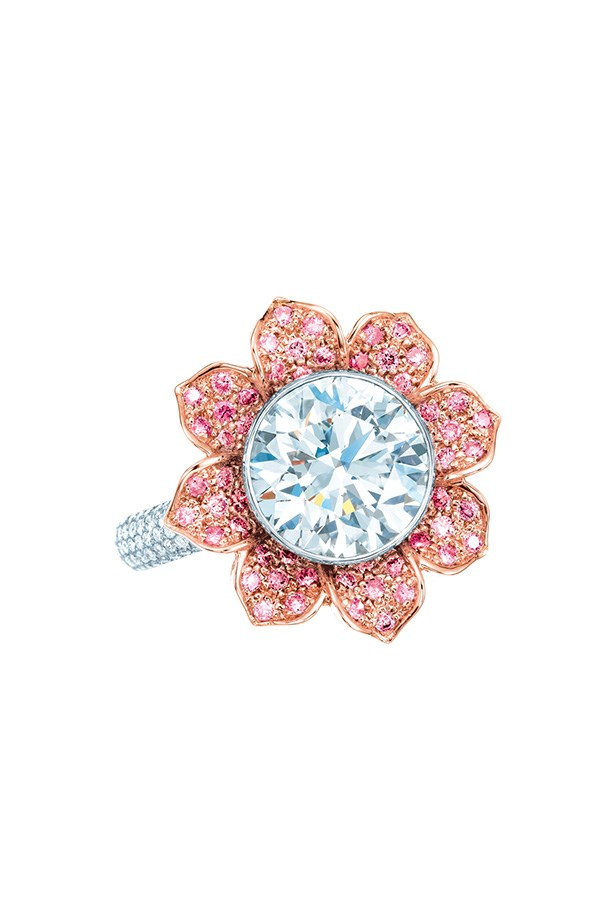 Tiffany & Co. 3.09ct Diamond and Pink Diamond Ring in platinum and 18k rose gold, $247,500.