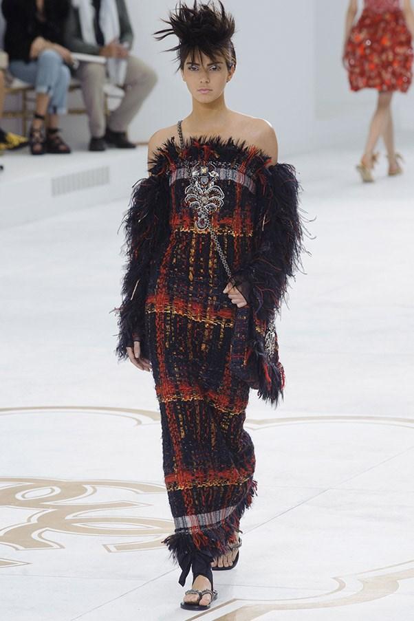 Kendall Jenner walks for Chanel