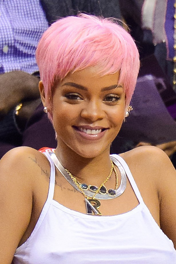 Getting wiggy with it. Although this wasn't her real hair, Rihanna caused a stir when she wore a strawberry milkshake-coloured crop to a Los Angeles Clippers game earlier this year.