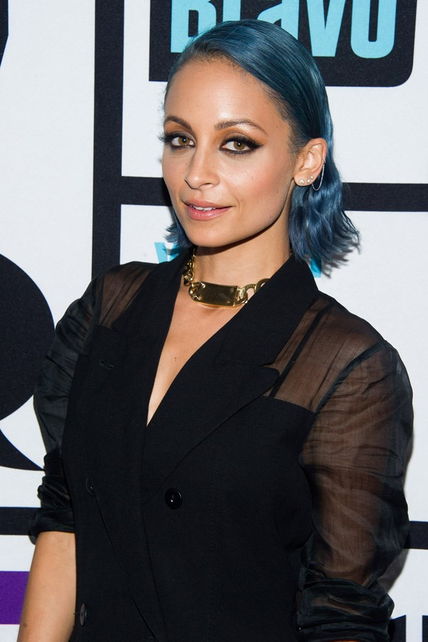 <em>ELLE</em> covergirl, Nicole Richie has only recently swapped from pastel lilac to a more sultry tone of sky blue.