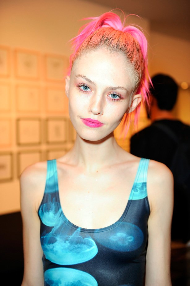 The ultimate pink hair muse, model Charlotte Free has made this tone her signature. Her easter egg tint has even landed her a Maybelline contract.