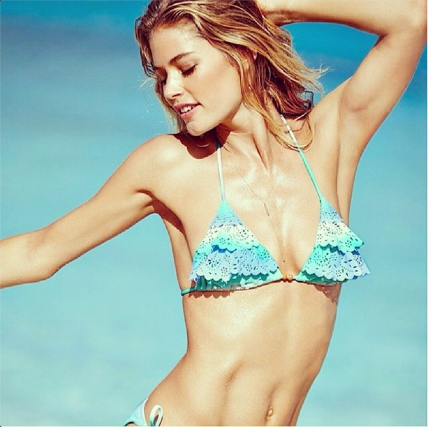 Another Victoria's Secret Angel we wish we were, the one and only Doutzen Kroes, wearing a Victoria's Secret bikini, natch. <br> Credit: @doutzen