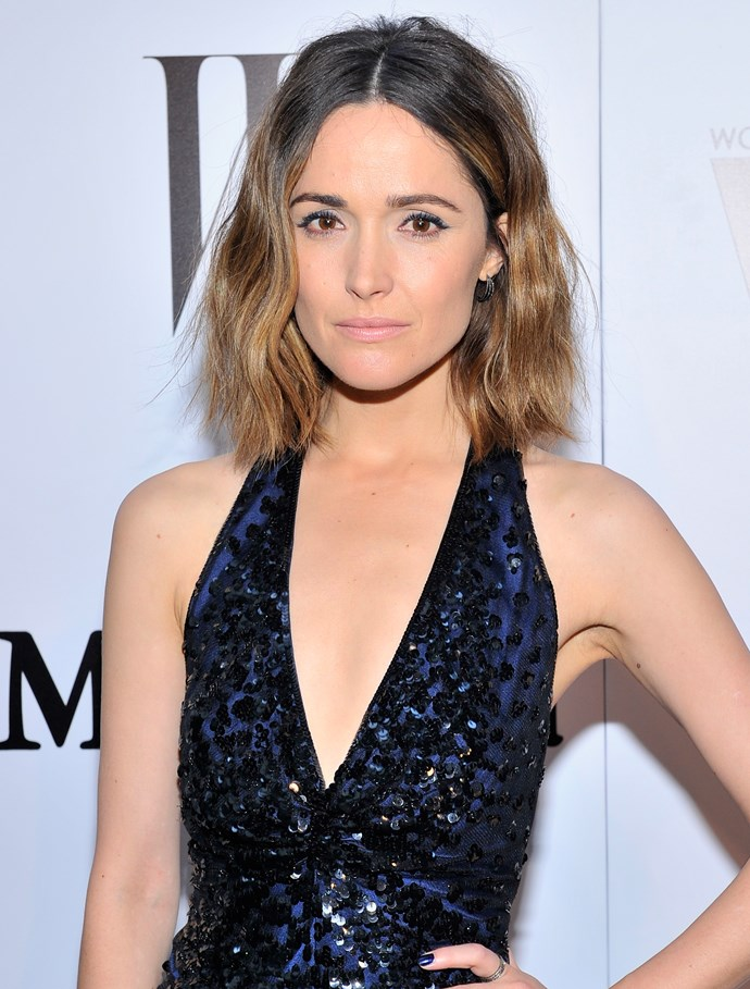 """<strong>THE LOOSE BOB OR LOB </strong><BR><BR> Rose Byrne <br><br> The loose bob, or """"lob"""" as they say in the biz, is best for those who rocked a slick asymmetrical bob last year, grew it out or just got sick of the constant heat-styling needed to keep it looking good."""
