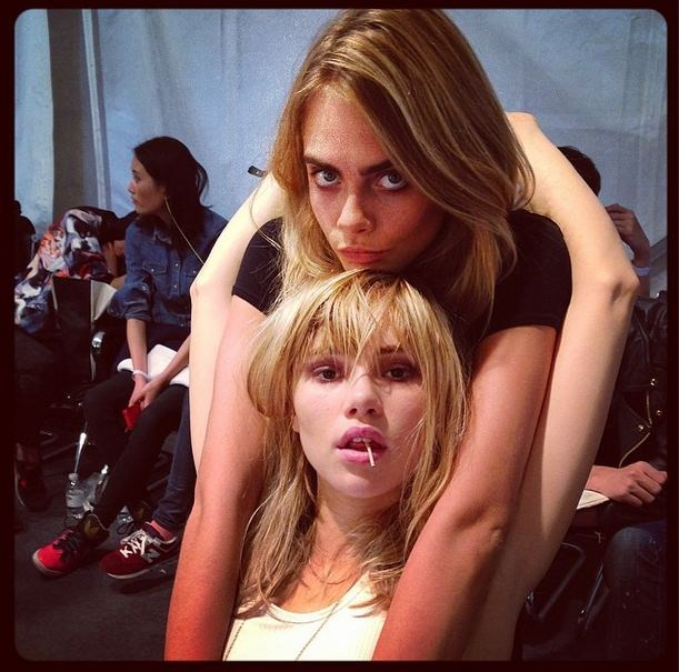 """<strong>Suki Waterhouse</strong> <br><br> 22-year-old Suki Waterhouse is an actress, model and London socialite and  is currently dating Bradley Cooper. Earlier this year, Waterhosue and Delevingne fronted a <a href=""""http://www.elle.com.au/news/fashion-news/2014/6/bffs-cara-and-suki-star-in-new-burberry-campaign/"""">Burberry Campaign together</a>. <br> Instagram handle: @sukiwaterhouse"""