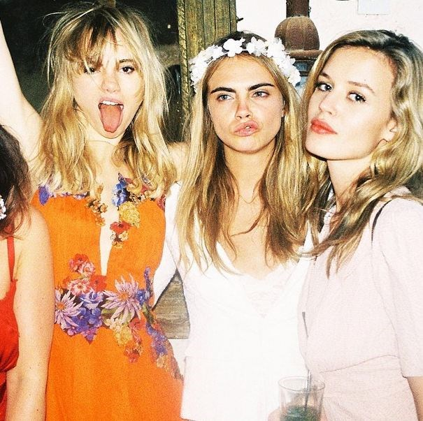 Girls who 'gram together stay together: Suki Waterhouse, Cara Delevingne and Georgia May Jagger. <br> Click through to see the Cara Delevingne BFF cheat sheet. <br><br> Instagram: @caradelevingne