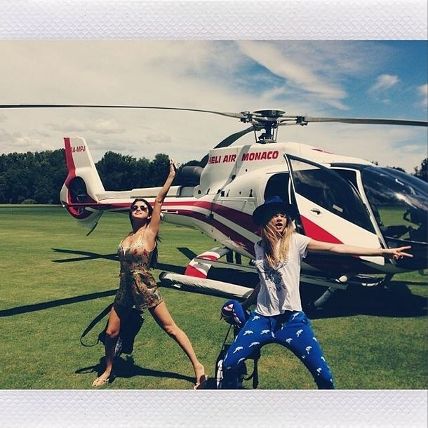 <strong>Selena Gomez</strong><br> This singer/actress, best known for her roles on several Disney programs,  spent her 22nd birthday with Cara and friends on a plush yacht in St Tropez. Their mode of transport? Helicopter, of course. <br> Instagram handle:@selenagomez