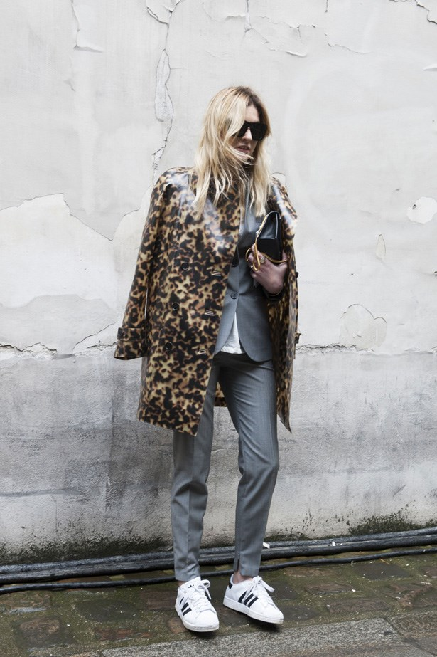 """<strong>Trend to adopt? Sneakers</strong><br> If there's one trend that is made for this kind of style, it's the sneaker freaker trend. Pair your high end threads with low-fi trainers for instant street style cred. Wear with a skirt, jeans, cut offs or a cute mini dress. <br><br> Related links:  <br> <a href=""""http://www.elle.com.au/fashion/trends/2014/2/street-style-trend-sophisticated-sneakers/"""">Street style trend: sophisticated trainers</a> <br> <a href=""""http://www.elle.com.au/fashion/accessories/2013/8/pumped-up-kicks/"""">Shop the look: pumped-up kicks</a>"""