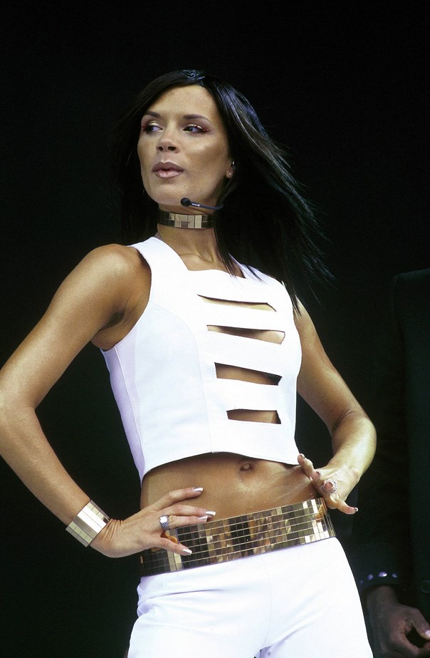 With sporty crops still trending, this look from a Spice Girls performance in 2000 will sit nicely in our summer wardrobe.