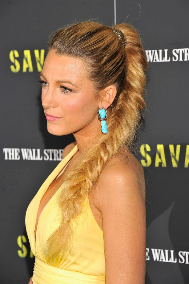 Those with beautiful, thick, long lengths should consider taking a note out of Blake Lively's book of style. If it gets too heavy/hot, you can always wrap it up into a bun.