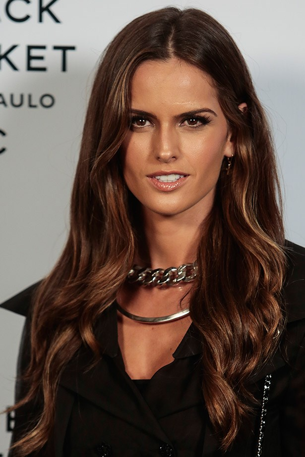 <strong>Barely there highlights</strong> Victoria's Secret model Izabel Goulart's subtle balyage highlights are perfect for virgin hair or those wanting a hint of summer in their lengths.