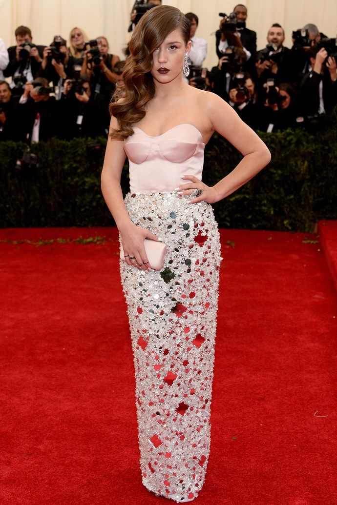 <strong>Adele Exarchopoulos</strong><br> She landed on our radar when she co-starred in <em>Blue Is The Warmest Colour</em>, and the French actress has since been tapped by Miuccia Prada as the face of Miu Miu. With that kind of fashion cred comes an enviable wardrobe. Our favourite of the year? This Prada two-piece from the Met Gala.