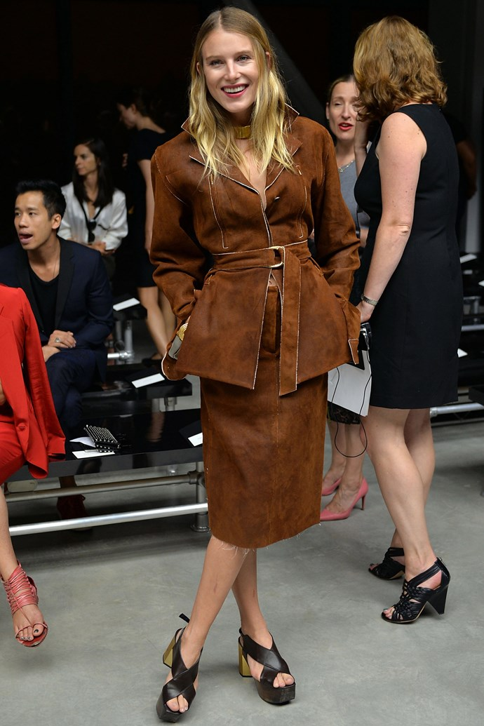 <strong>Dree Hemingway</strong><br> The literary royal does whimsy skirts and dresses just as well as she can relaxed tailoring (witness the perfect combination of both here).