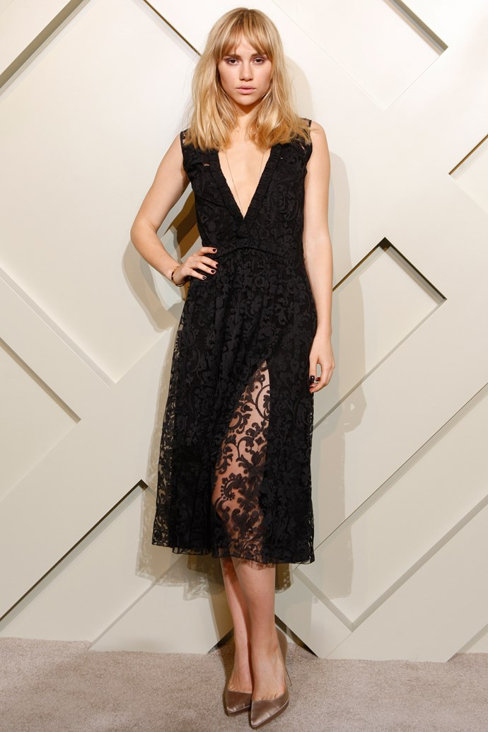 <strong>Suki Waterhouse</strong><br> This 22-year-old model, singer and BFF to Cara and Poppy Delevingne has had a big year: she's been tapped as the new face of Burberry and landed a coveted role in upcoming film <em>The Divergent Series: Insurgent</em>. Her style is classic Brit-cool: think easy trenches, lots of plaid and pretty dresses worn with leather jackets thrown over the top.