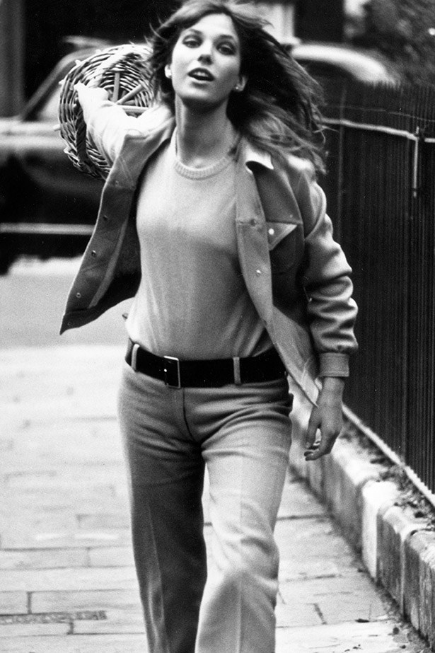 Jane Birkin's style may have been more on the free-flowing and bohemian end of the spectrum than some of the other women on this list, her androgynous denim and knit styling always sticks in our mind.