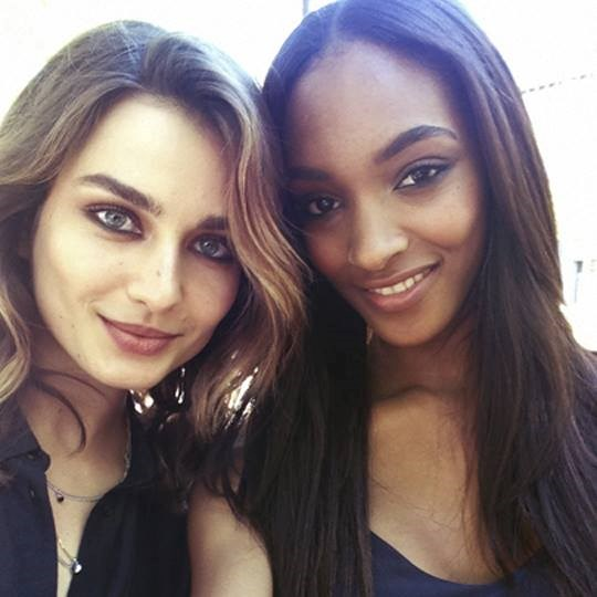"<strong>Andreea Diaconu </strong>(left) <br> <strong>Age:</strong> 23 <br> Confession: We have lusted after Andreea Diaconu's power brows for years - way before Cara came along. This Romanian model's skin and brows have made her a favourite among designers, so it's no surprise she has walked for pretty much everyone and starred in campaigns for Victoria's Secret, Celine, Chloe, Gucci and Ralph Lauren, to name a few.<br> <strong>She says:</strong> ""[One thing people don't know about me] is that I can speak six languages."""