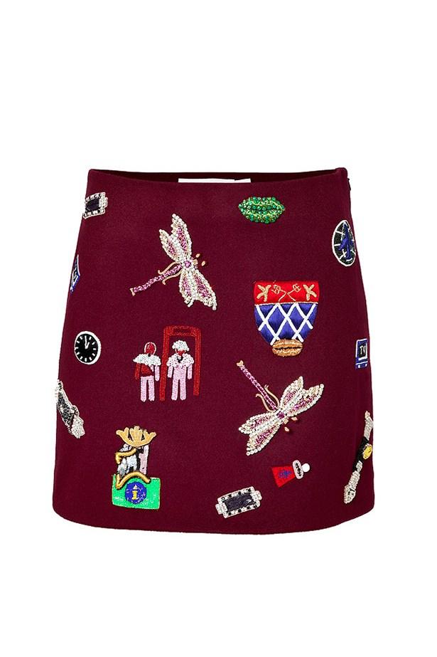 "Wool mini skirt, $2915, Mary Katrantzou, <a href=""http://www.stylebop.com/au/product_details.php?menu1=clothing&menu2=12&id=554029"">stylebop.com</a>"