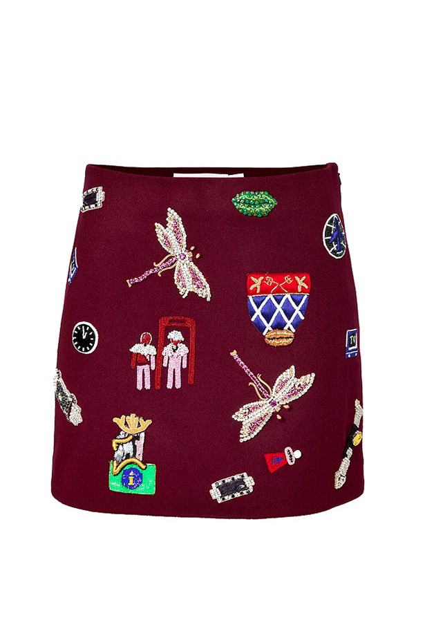 "Wool mini skirt, $2915, Mary Katrantzou, <a href=""http://www.stylebop.com/au/product_details.php?menu1=clothing&menu2=12&id=554029"">stylebop.com</a>"