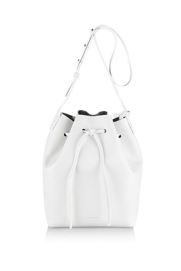 "Leather bucket bag, $1213, Mansur Gavriel, <a href=""http://www.net-a-porter.com/product/467153/Mansur_Gavriel/leather-bucket-bag "">net-a-porter.com</a>"