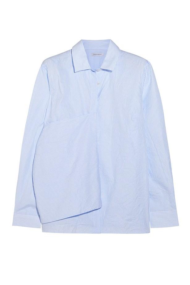 "Cotton shirt, $292, JW Anderson, <a href=""http://www.theoutnet.com/en-AU/product/JWAnderson/Flag-striped-crinkled-cotton-shirt/477171"">theoutnet.com</a>"