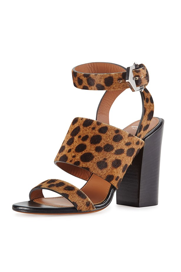 "Calf hair sandals, $1359, Givenchy, <a href=""http://www.neimanmarcus.com/en-au/Givenchy-Leopard-Print-Calf-Hair-City-Sandal/prod168830143_cat47190746__/p.prod?icid=&searchType=EndecaDrivenCat&rte=%252Fcategory.service%253FitemId%253Dcat47190746%2526pageSize%253D30%2526No%253D0%2526Ns%253DPCS_SORT%2526refinements%253D&eItemId=prod168830143&cmCat=product"">neimanmarcus.com</a>"