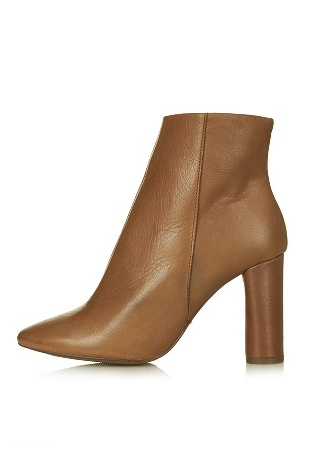 "Leather ankle boots, $139, Topshop, <a href=""http://www.topshop.com/en/tsuk/product/shoes-430/boots-460/magnum-ankle-boots-3170889?bi=21&ps=20"">topshop.com/au</a>"