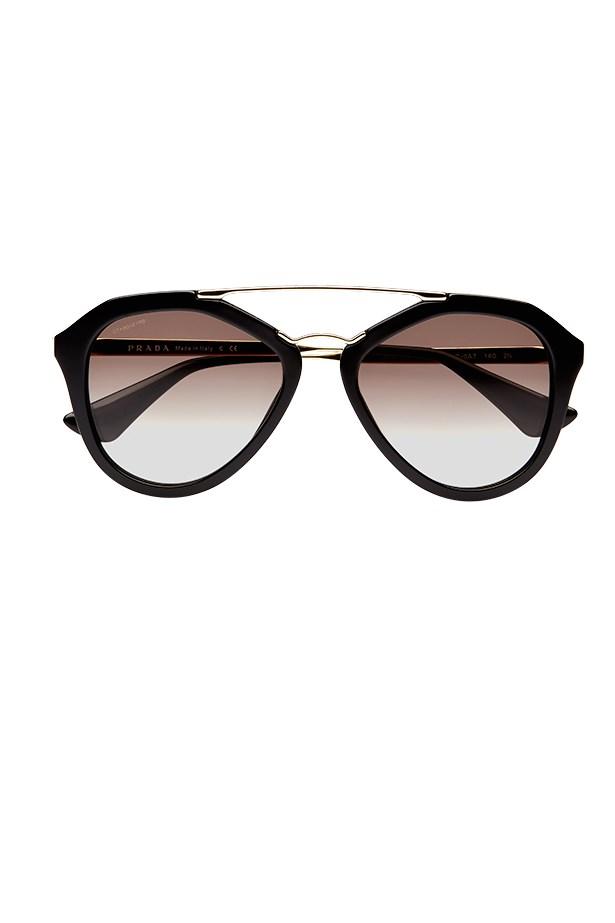 """Sunglasses, $430, Prada, <a href=""""http://www.sunglasshut.com.au"""">sunglasshut.com.au</a>"""