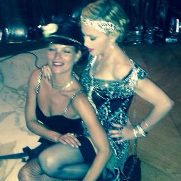 """""""The Queen and the Princess"""" was the caption on this image of Kate Moss and Madonna by photographer Mert Atlas."""